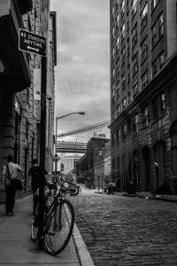 Brooklyn, New York City Amerika met uit zicht op de Brooklyn bridge brug